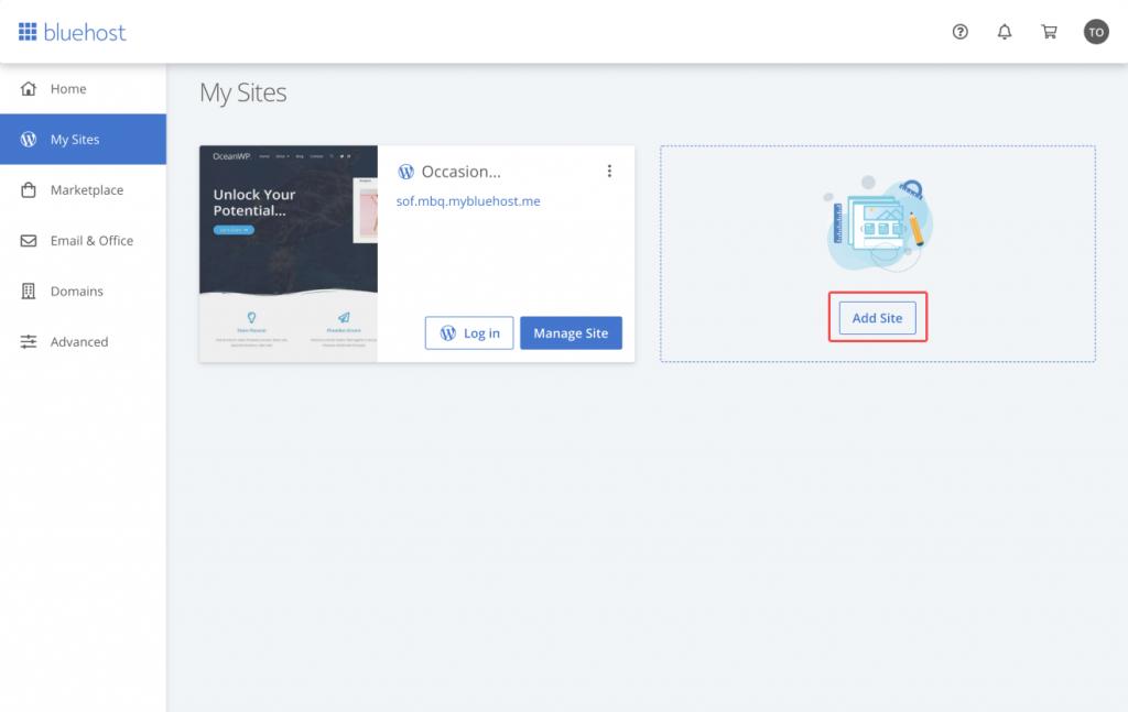 Installing WordPress on Bluehost 2