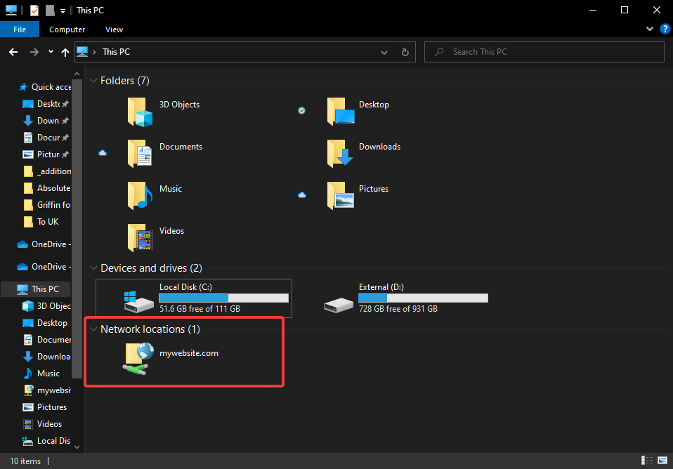 How to connect to FTP with Windows Explorer 9
