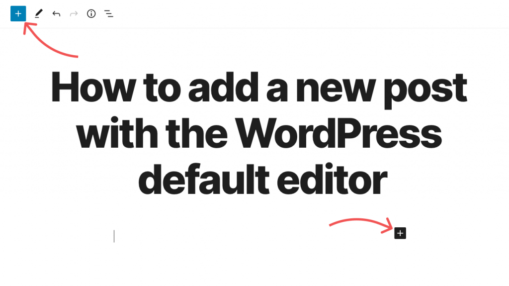 How to add a new content block in the WordPress Default Editor