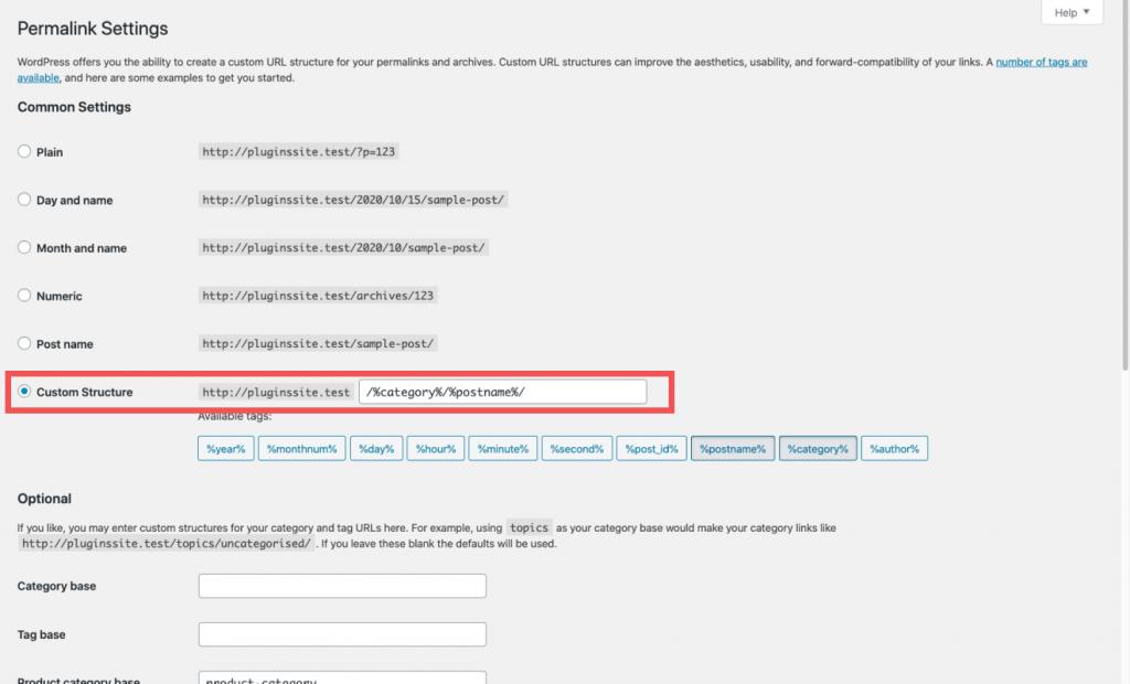 How to add post categories to URLs WordPress